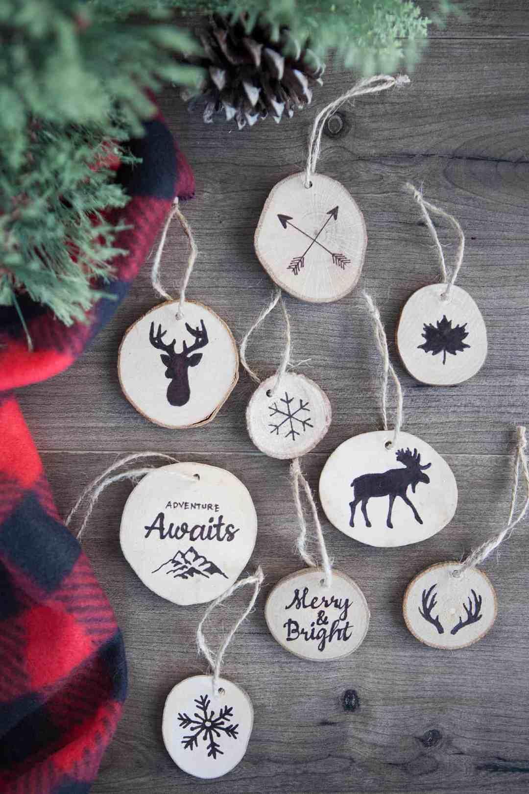 Farmhouse Style Ornaments for Christmas
