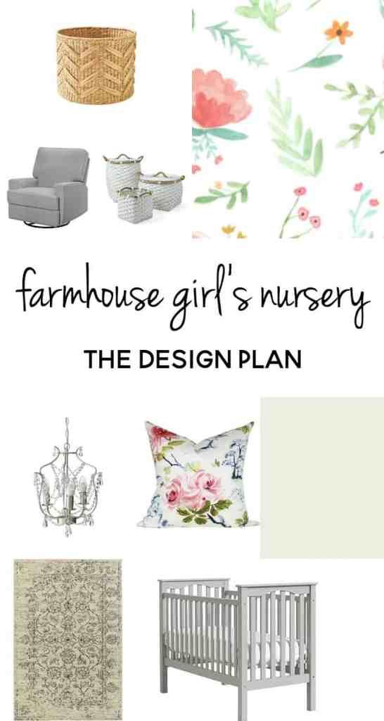 farmhouse girl's nursery | farmhouse girl nursery | girl nursery ideas | nursery design | farmhouse style | farmhouse decor