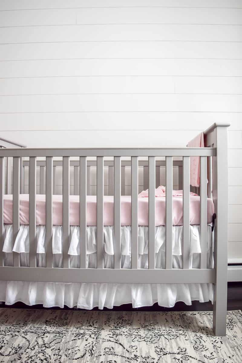 farmhouse girl's nursery