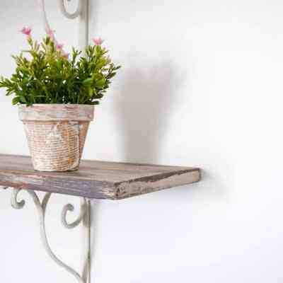 Rustic DIY Planter using Book Pages