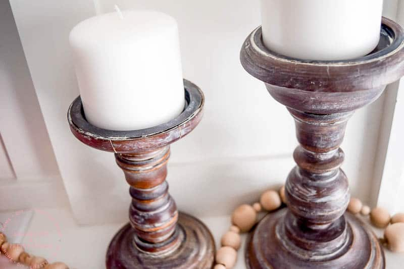 How to Create Farmhouse Style Candleholders in One Step