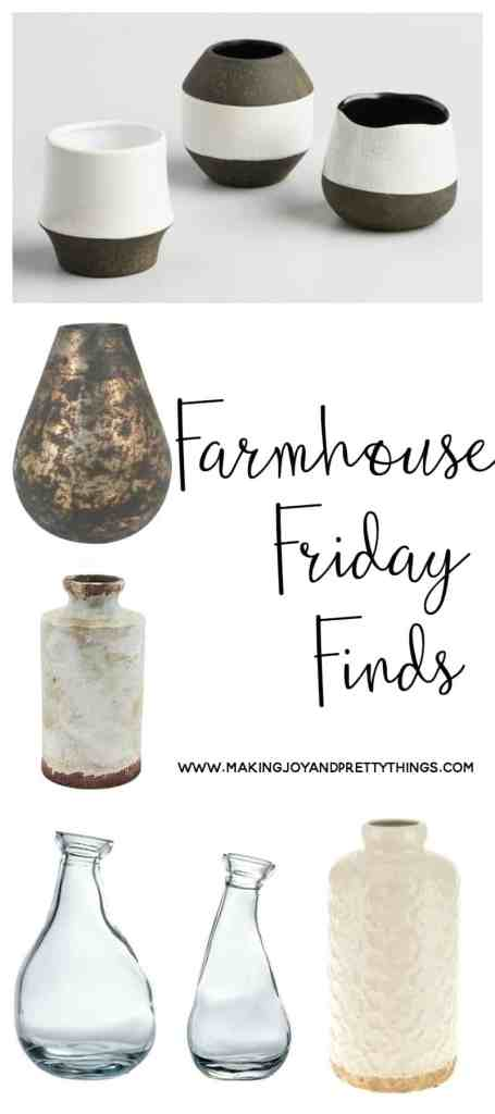 farmhouse friday finds | budget friendly decor | fixer upper | rustic decor | vintage | vases