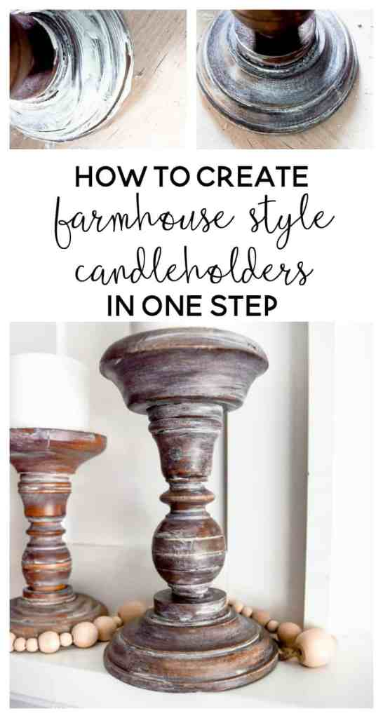 farmhouse style | farmhouse decor | diy home decor | diy ideas | diy candle holders | candle holders diy | easy diy | fixer upper diy | rustic diy ideas