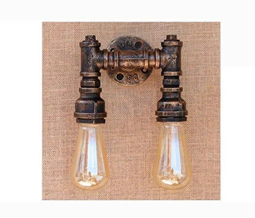 Budget friendly farmhouse industrial vanity lights!!