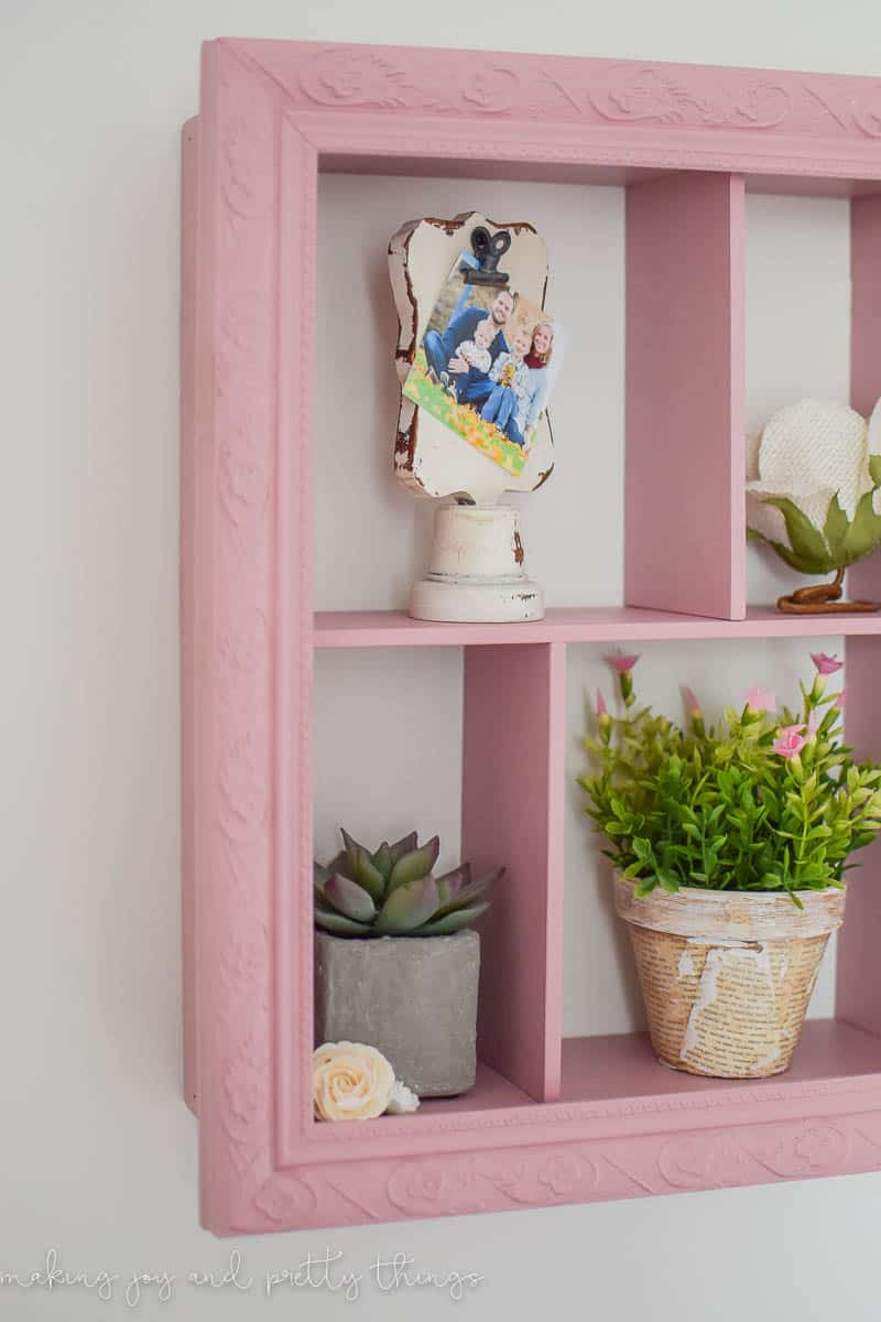 so do you love it as much as i do the pretty pink color just goes so well in her nursery i loved styling it with pretty girly touches too - Diy Shadow Box Frame