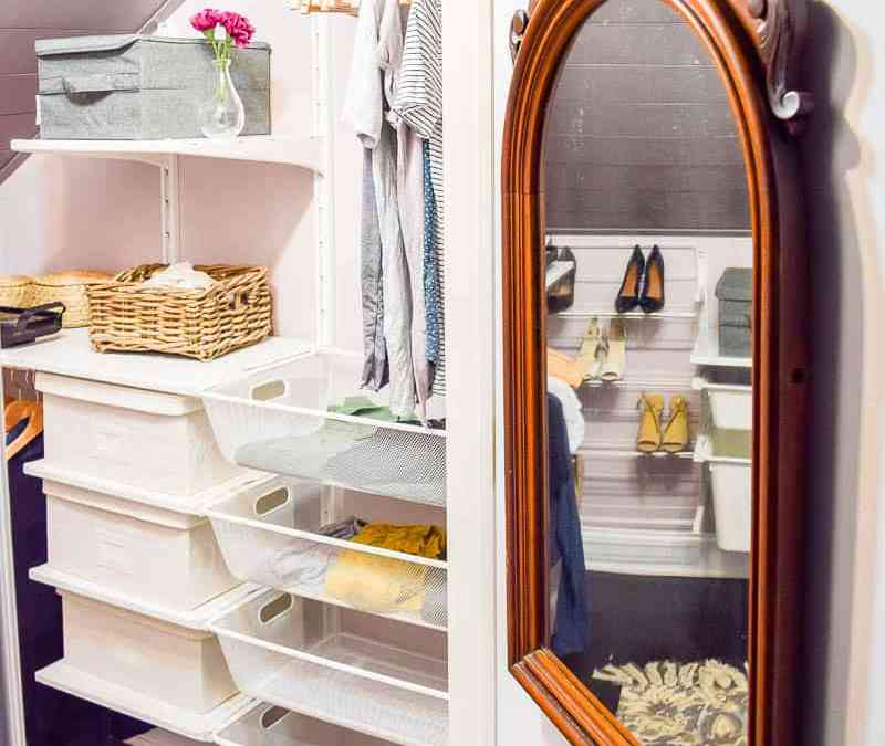 One Room Challenge {Week 6}: Farmhouse Industrial Master Bedroom Closet Reveal