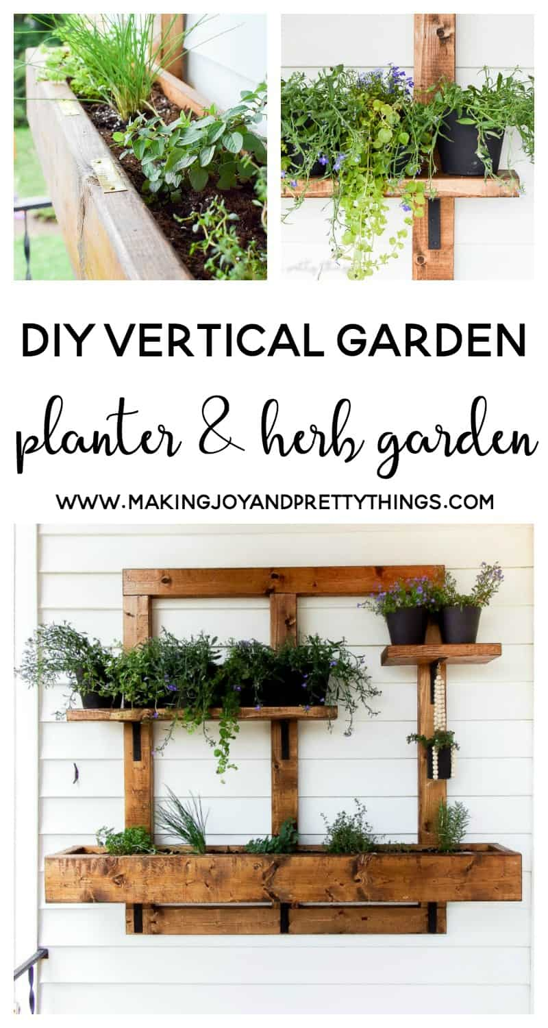 DIY Vertical Herb Garden and Planter (2x4 Challenge) -