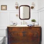 Bathroom Inspiration:  Using a Dresser as a Vanity