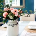 Vintage Farmhouse Milk Can Flower Arrangement