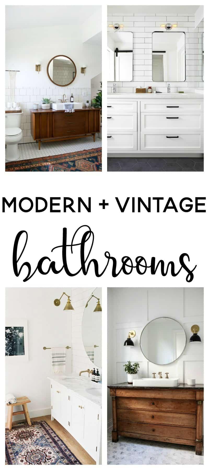 modern vintage bathroom | modern farmhouse | modern vintage bathroom ideas | bathroom ideas | bathroom