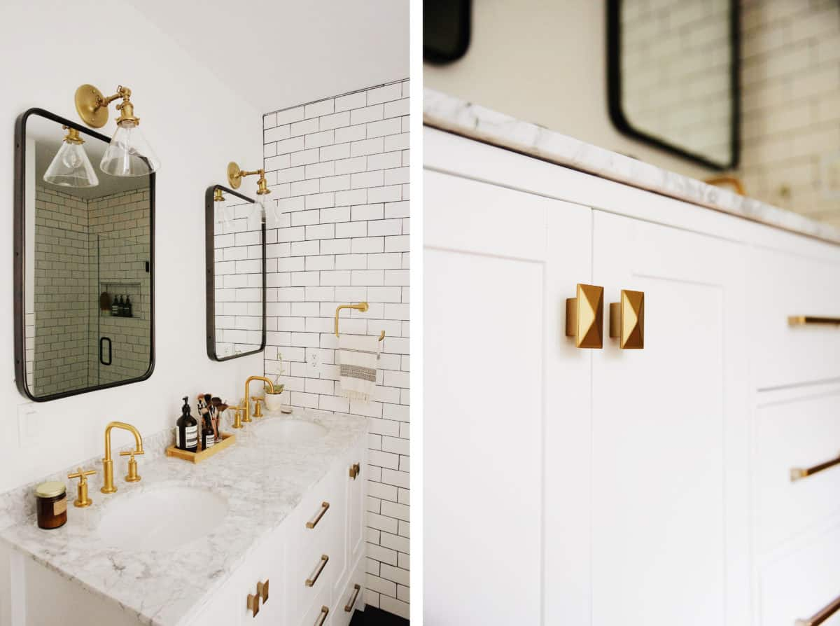 mixing metals in the bathroom making