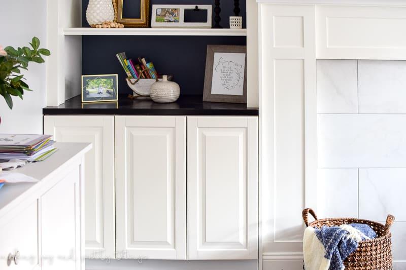 ikea hack | diy built ins | ikea kitchen cabinets | ikea ideas | living room & IKEA Hack: Kitchen Cabinets Turned Built Ins -