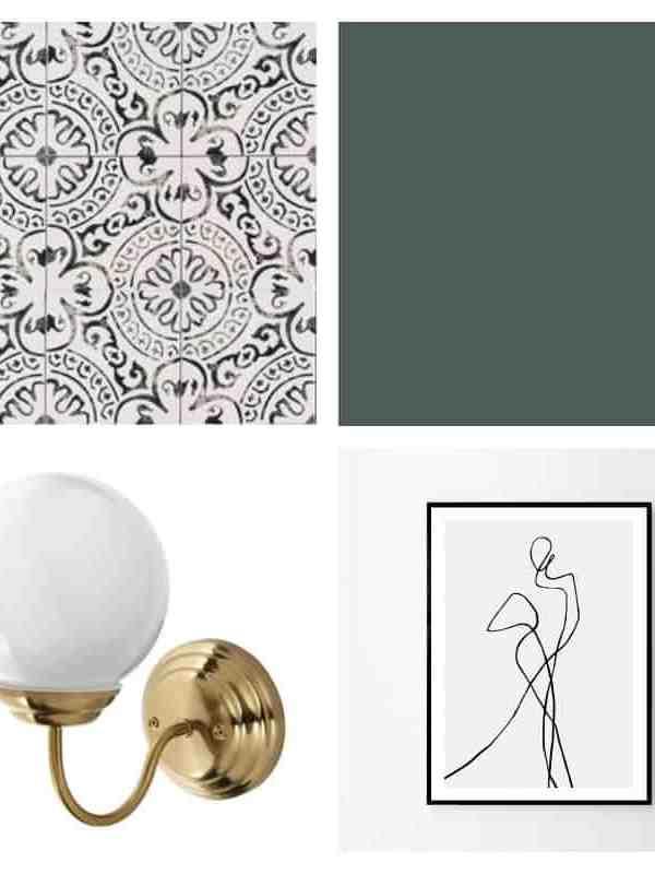 Modern + Vintage Master Bathroom Design Plan