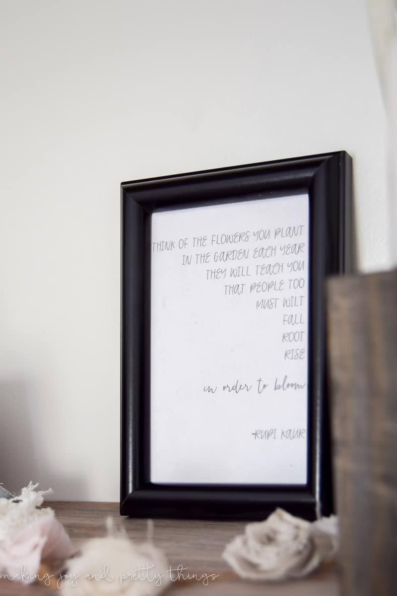 lazy girl's DIY typography art | diy gifts | diy christmas gift | free gift | gift ideas | quotes | poetry