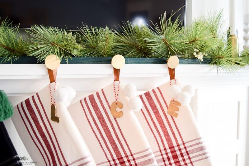 #diychristmas #christmas #diyhomedecor #diystockingholder  #christmasdecorations | Christmas Stocking Letters | Christmas