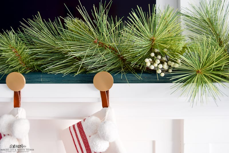DIY Modern Christmas Stocking Holder
