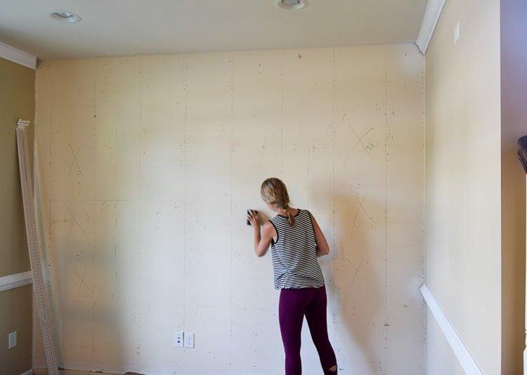 One Room Challenge Week 2 : : Goodbye Wood Wall