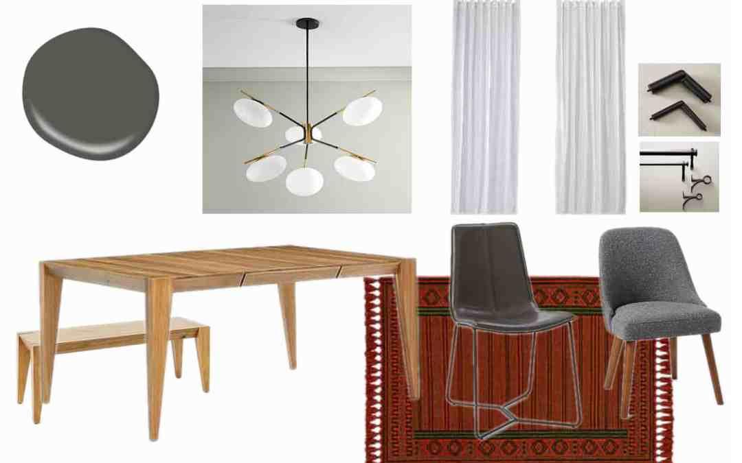 Modern Dining Room Makeover Design Plan