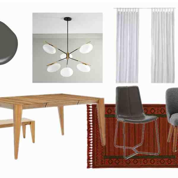 modern dining room design plan