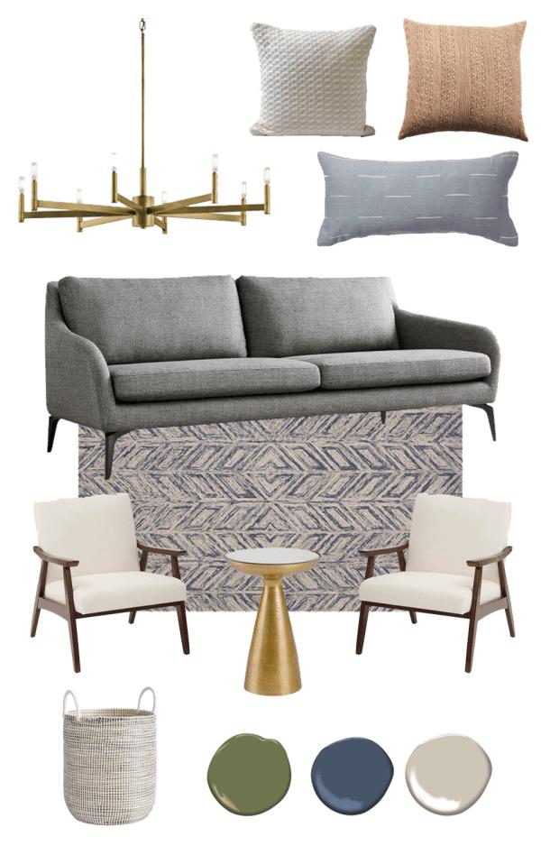 mid century modern | living room | mid century modern living room | living rooms ideas | mood board | living room design