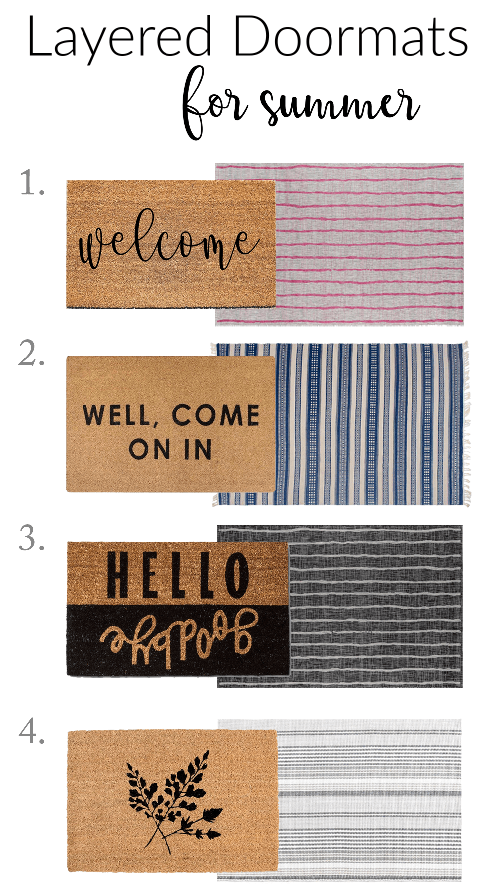 Layered Doormats for Summer - How to Mix and Match - Design