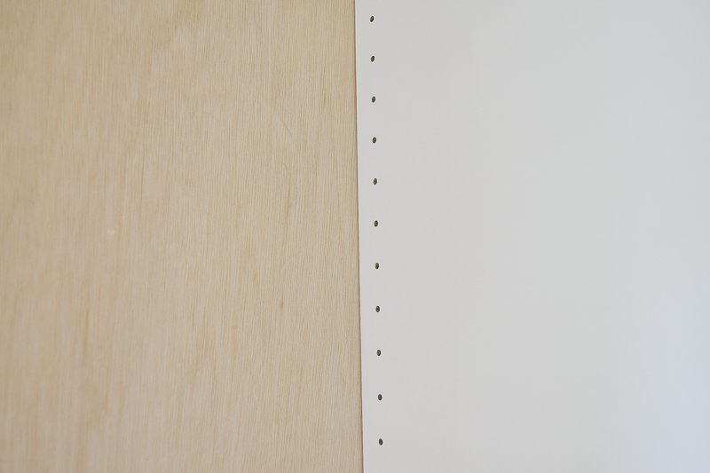 IKEA Hack time because who doesn't love IKEA hacks?!  Sharing the beginning of our IKEA closet hack using the IKEA closet system.  The IKEA Pax system comes with flimsy white backing.  Today, we're sharing the ultimate IKEA hack - how to add plywood backs to IKEA Pax units.  This can be used for other IKEA products too like IKEA dressers! It's absolutely essential if you plan on painting IKEA furniture #ikeahacks #ikeahack #paxwardrobe #ikeapax