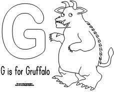 for the gruffalo print the