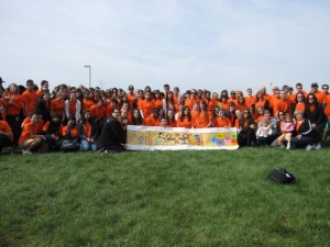 This is just part of me team. We had over 300 registered walkers.