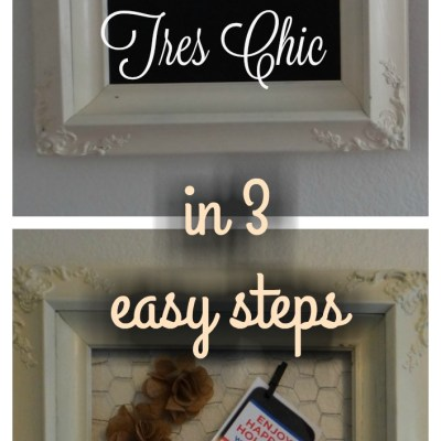 From Eek to Tres Chic in 3 Easy Steps – Making Old Frames New