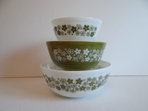 Pyrex Spring Blossom Mixing Bowls