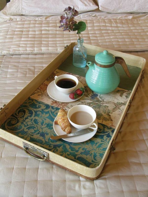 Old Suitcase Breakfast Tray Old Suitcase Upcycle Breakfast Tray Tea Tray Ottoman Tray