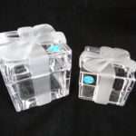 Tiffany and Co® crystal gift box paperweight and trinket box,Tiffany and Co® crystal gift box trinket box