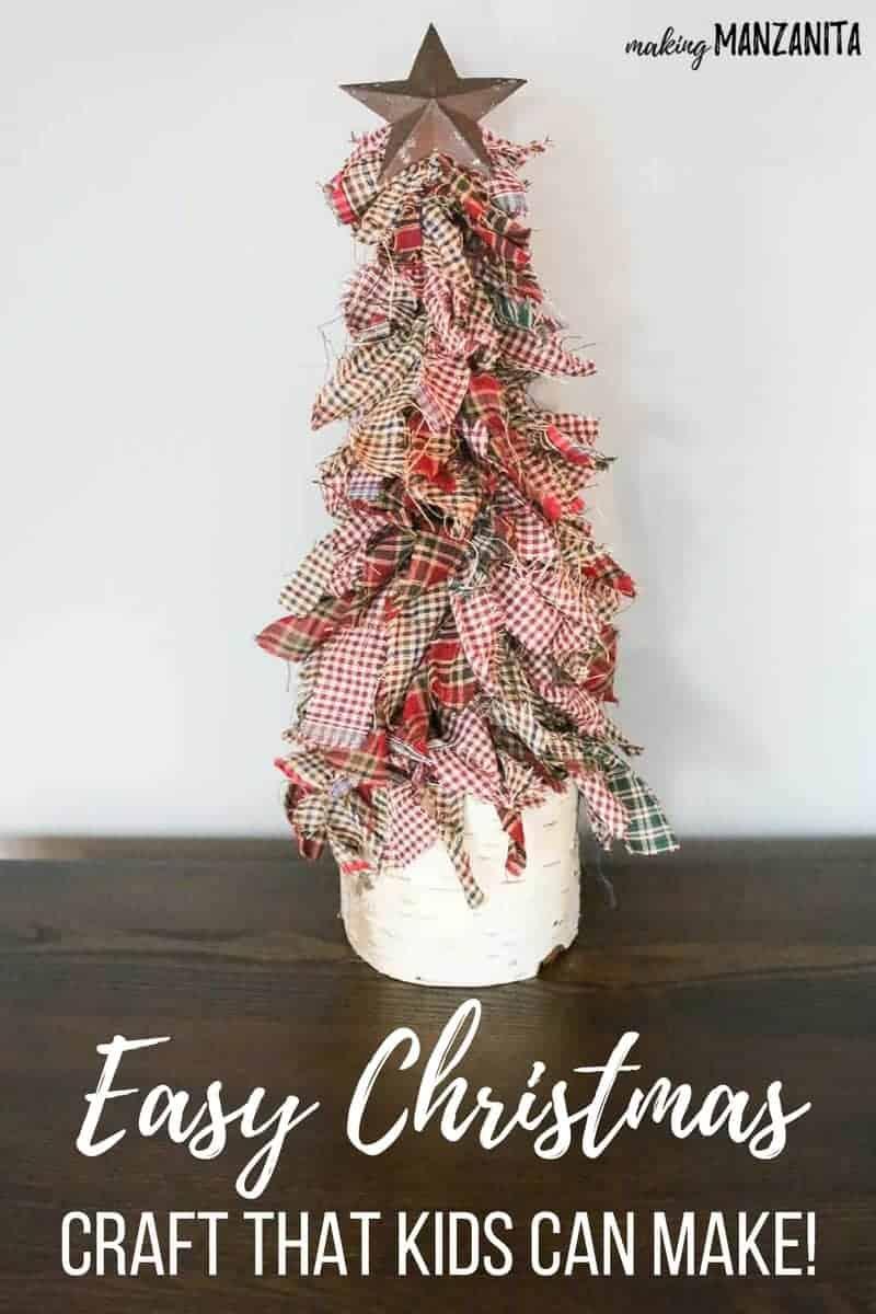 How To Make Primitive Mini Christmas Trees With Homespun