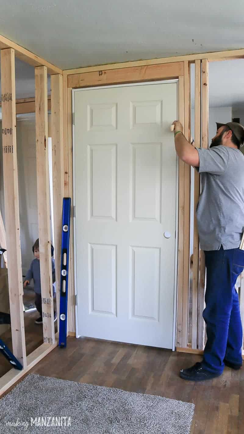 How To Install A Prehung Door Making Manzanita