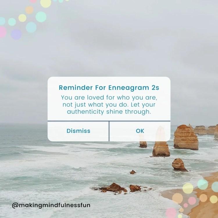Reminder for enneagram 2