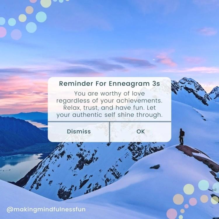 Reminder For Enneagram 3