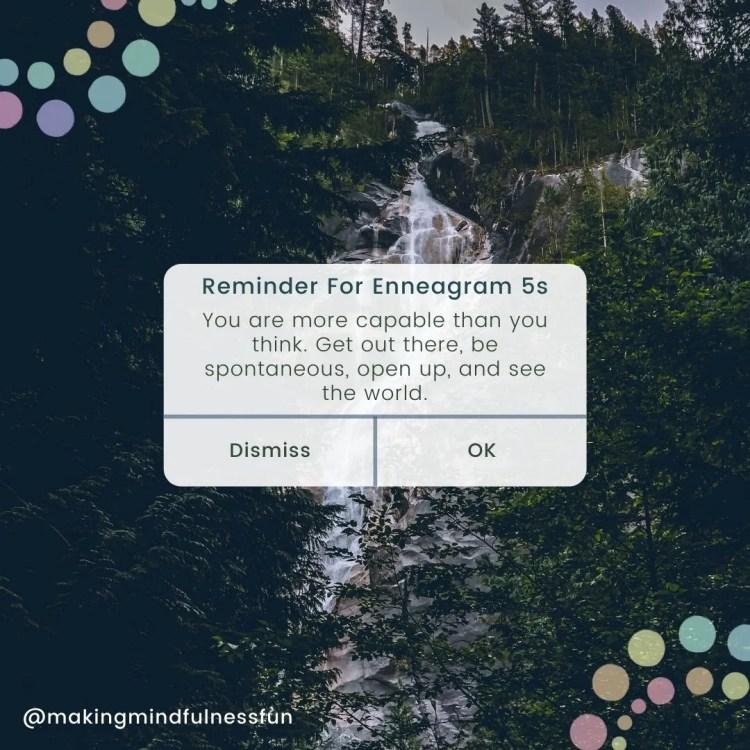 Reminder For Enneagram 5