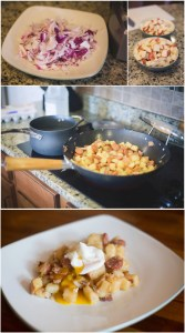 andouille sausage potato hash with egg