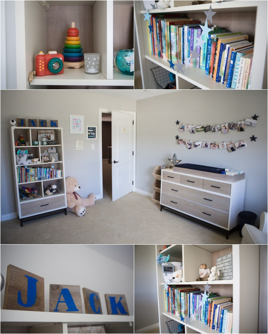 star and moon themed nursery details and decor