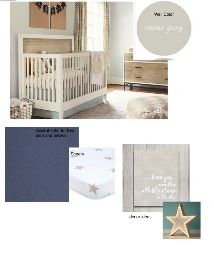star themed nursery idea board