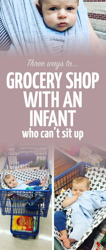 ways to shop with an infant