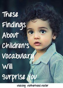 children's vocabulary