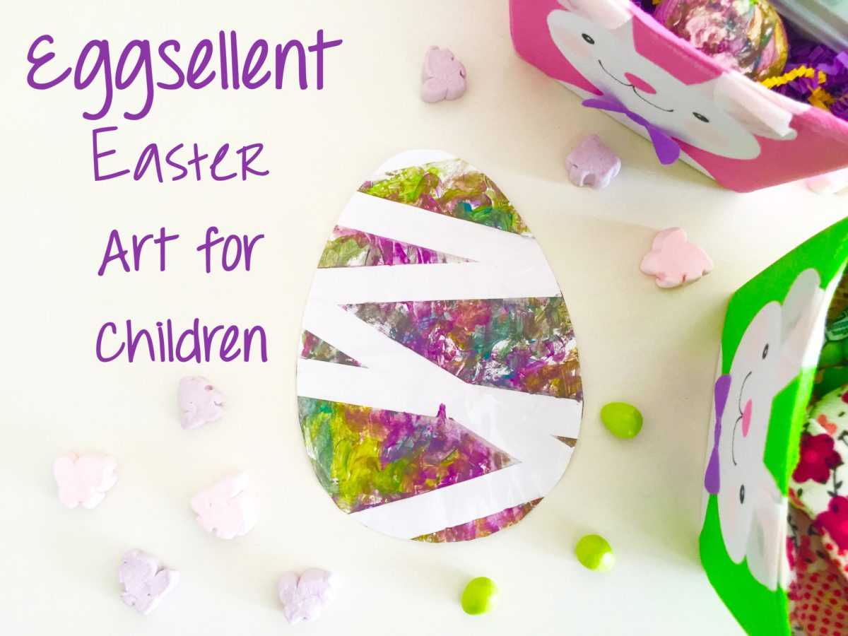 This eggsellent art project is the perfect developmentally appropriate opportunity for children to have fun and get messy, all while creating beautiful Easter decorations. Children young and old can enjoy creating this simple masterpiece. With a just few household items, you will be ready to begin. Here are the directions for making Eggsellent Easter Art: