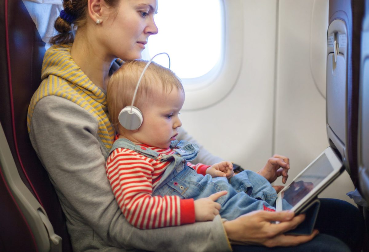 flying with a toddler on your lap