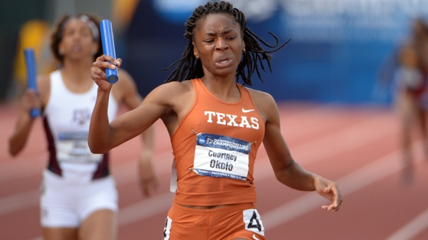Courtney Okolo set the outdoor collegiate record in the 400m in 2014. (Photo Credit: www.flotrack.org)