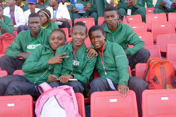 A cross-section of Team Nigeria athletes in Addis Ababa.