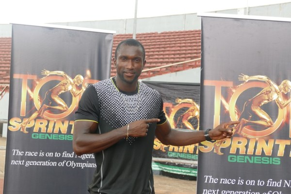 Former 100m National Champion, Obinna Metu was at hand to watch the athletes compete in the Coal City.