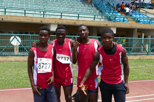 The quartet of Chidozie Uwajimogu, Chinedu Akhigbe, James Ubong and Offiong Ekemini executed the Boys'4x100m race effortlessly.