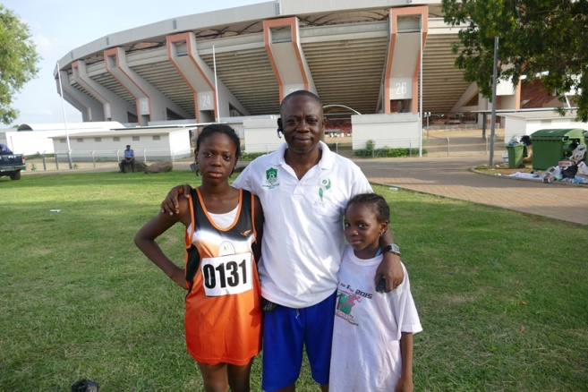 Mr Taiwo Oladeinde came to support his kids, 11-year oldTomiwa, and 9-year old Temioluwa.