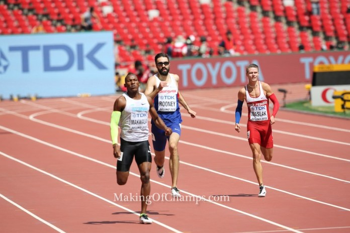 African record holder Isaac Makwala qualified for the final.